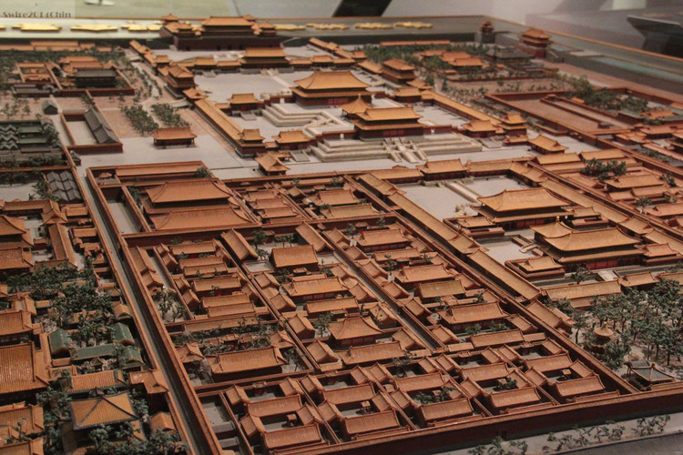A scale model of the Forbidden City, viewed facing south.. Image Courtesy of Flickr user Can Pac Swire (licensed under CC BY-NC 2.0))
