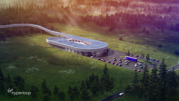 Virgin Hyperloop to Build New Testing Center on 800-Acre Site in West Virginia, Courtesy of Virgin Hyperloop, Bjarke Ingels Group