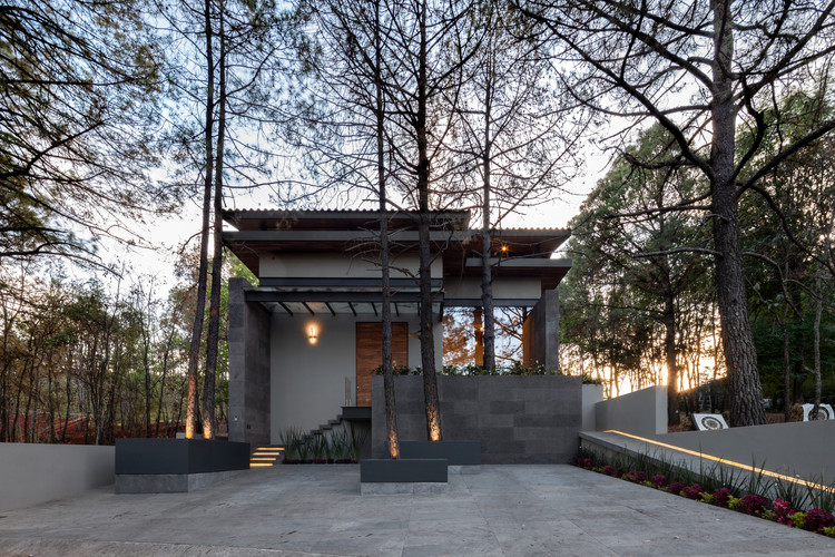 Casa entre pinos / Infante Arquitectos, © César Belio