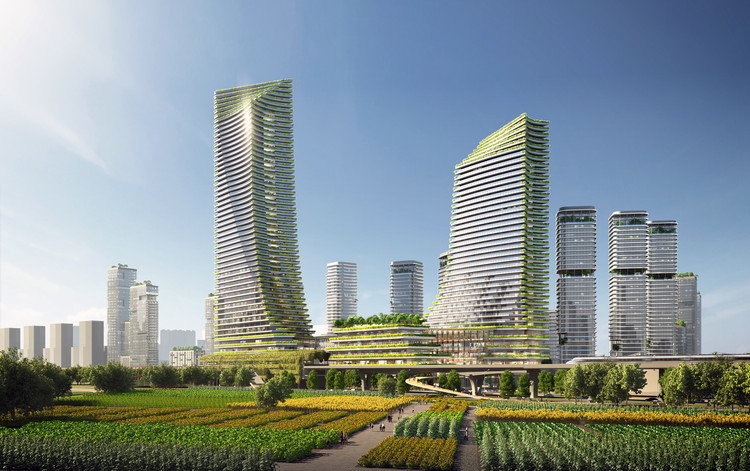 SOM Envisions a Vibrant, Diverse, and Ecological Urban Community in Guangming District, Shenzhen, Courtesy of SOM