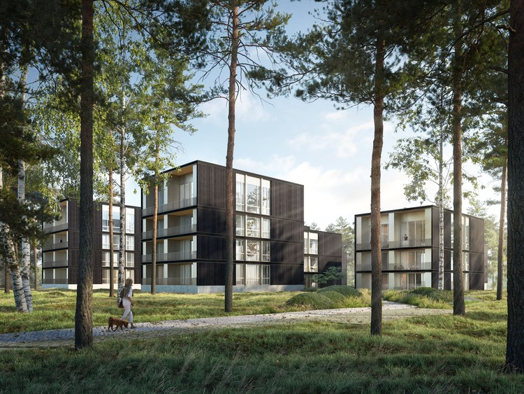 David Chipperfield e Enzo Enea projetam retiro de luxo em lago na Alemanha, Cortesia de Bloomimages