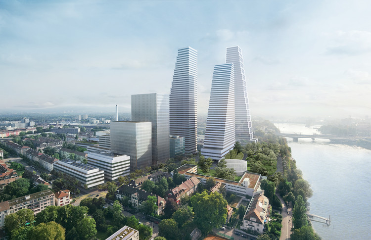Herzog & de Meuron Create Third Roche Tower Along Rhine River in Basel, Courtesy of Roche / Herzog & de Meuron