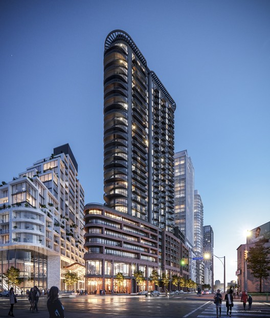 Toronto's New Flatiron Building Designed by Hariri Pontarini Architects, Courtesy of ELAD Canada