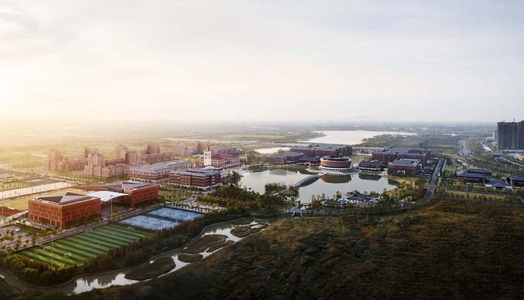northwestern aerial view of the campus. Image © Qiang Zhao