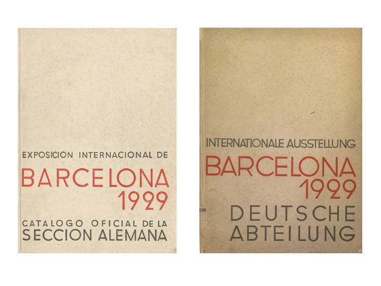 Lilly Reich: La Exposición de Barcelona en 1929, © Arxiu Històric de la Ciutat de Barcelona. . ImageCubiertas del Catálogo Oficial de la Sección Alemana, versiones en castellano y alemán.