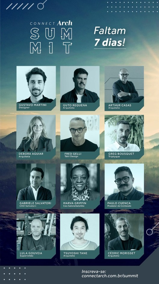 ConnectArch Summit, ConnectArch Summit vai reunir grandes nomes da arquitetura e do design