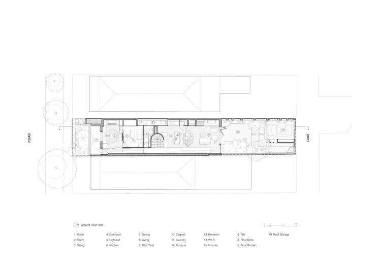02 Union Austin Maynard Architects ground floor plan - Union House: Ngôi nhà mới nhiều tầng, vui tươi