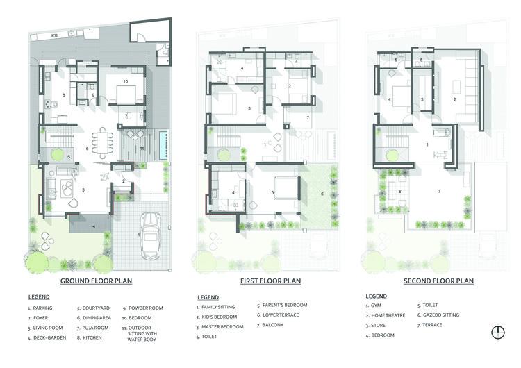 FLOOR PLANS - The Box House: Ngôi nhà với những mảng xanh đồng bộ với thiên nhiên