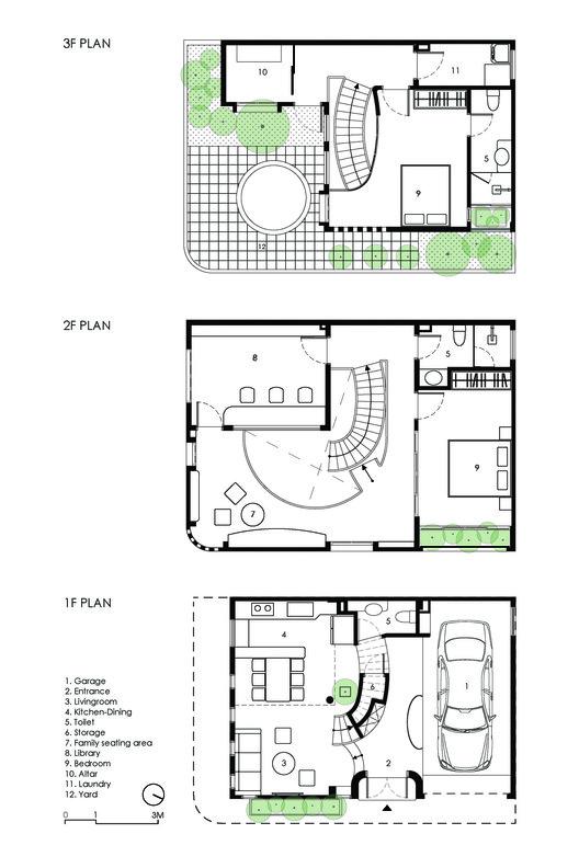 25   PLAN - L House: Nhà của vợ chồng trẻ và 2 con nhỏ nhiều ánh sáng, hiện đại đẹp