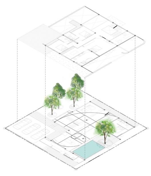 3 - The Hidden House: Bức tường màu trắng chủ đạo ôm trọn không gian