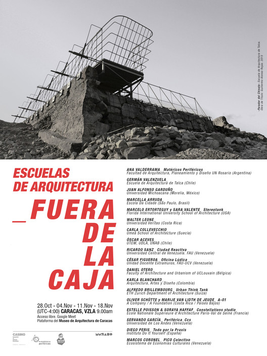 Escuelas de Arquitectura Fuera de la Caja, Escuelas de Arquitectura Fuera de la Caja, ciclo de debates