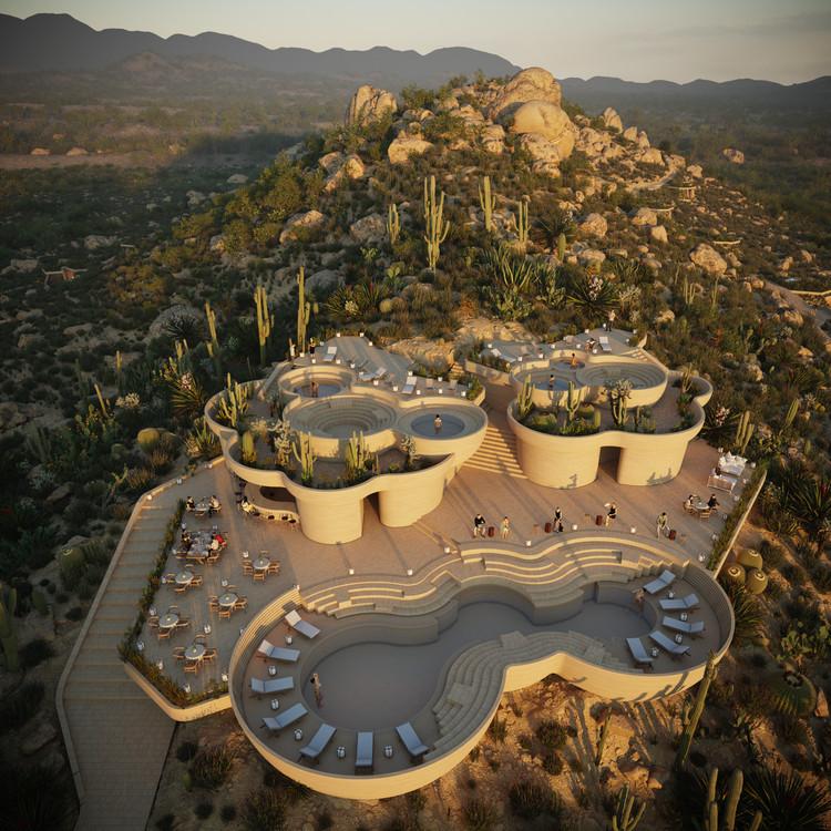 Rojkind Arquitectos + AmasA Estudio presentan proyecto 'UMMARA' ubicado en el Valle de Guadalupe, © Rojkind Arquitectos