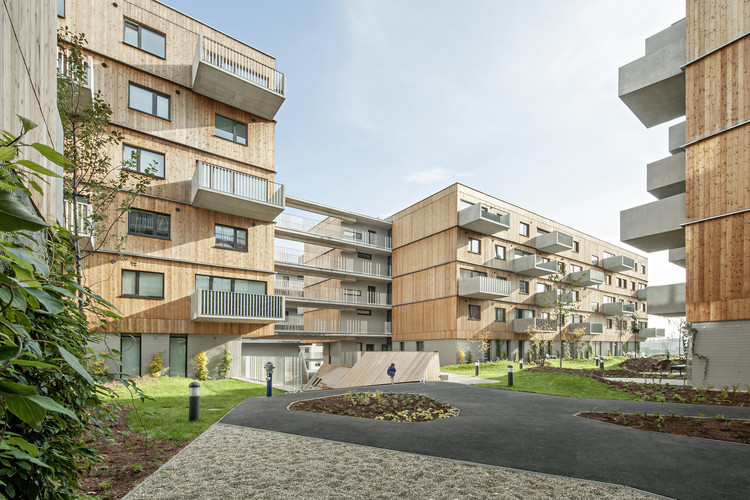 Wood Housing Seestadt Aspern / Berger+Parkkinen Architekten + Querkraft Architects, © Hertha Hurnaus