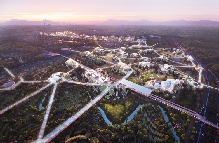 """MVRDV Unveils """"Sky Valley"""", Chengdu Future Science and Technology City, in Southwest China, © ATCHAIN"""