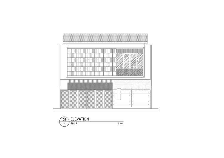 Elevation - RR House / Rakta Studio: Ngôi nhà 400m2 thiết kế siêu thoáng với không gian mở