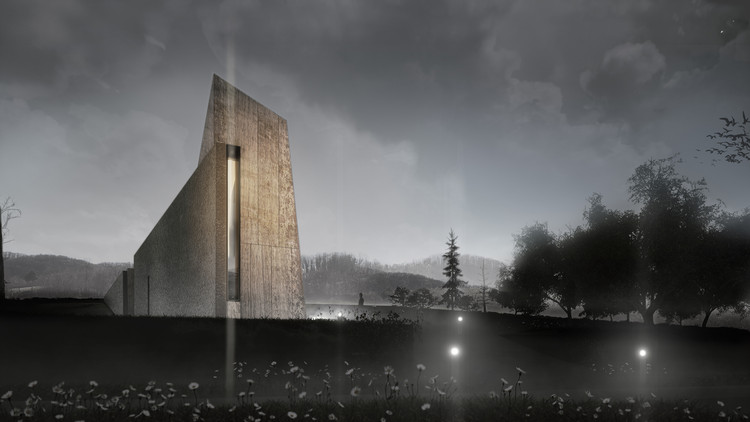 An Extreme Sports Park in Russia and a Latvian Eco-Tourism Catalyst: 10 Unbuilt Projects Submitted by our Readers, Zovik Chapel and Cemetery. Image Courtesy of Nenad Fabijanić