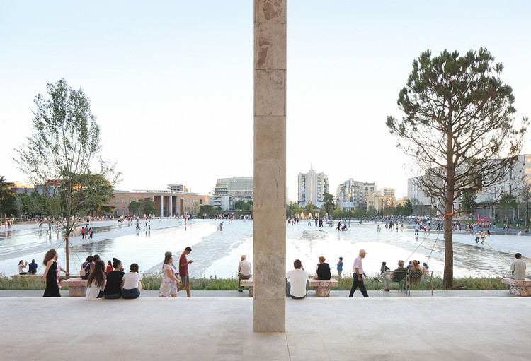 Reframing the Monumental: Reclaiming the Architecture and Public Spaces of the Former Eastern European Bloc, Skanderbeg Square by 51N4E. Image © Filip Dujardin