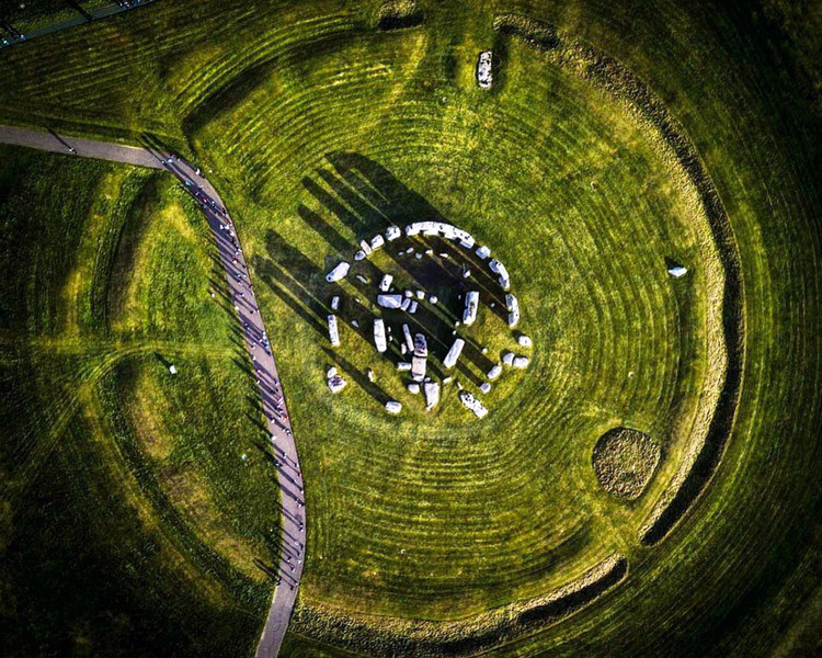 Unesco's World Heritage Sites Viewed from Space, Stonehenge. Aerial photograph by @copter_shot