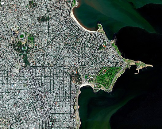 Montevideo, Uruguay. Image © Daily Overview