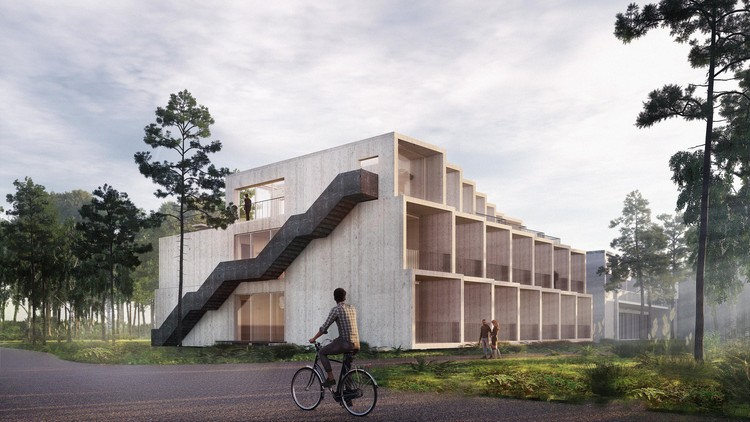 3XN Designs Denmark's First Climate-Positive Hotel on the Island of Bornholm, Courtesy of 3XN/GXN