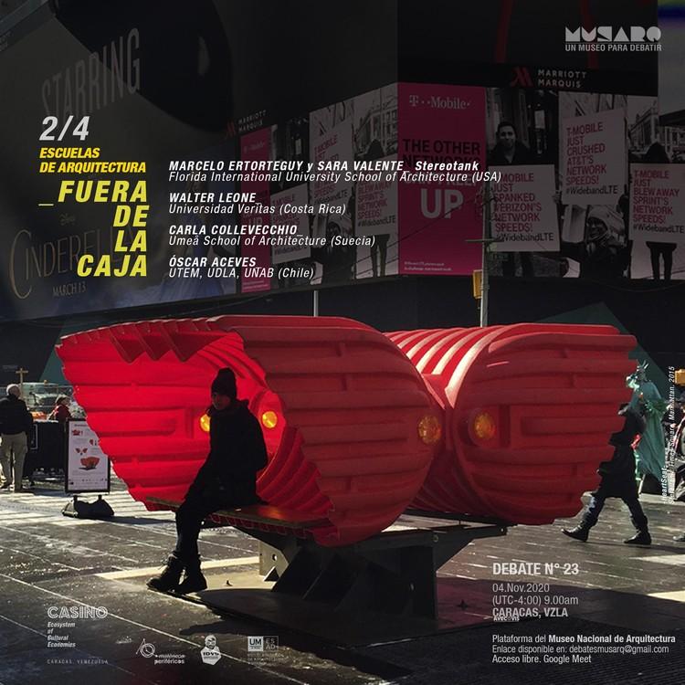 Aproximaciones desde el exterior: Debate 2 - Escuelas de Arquitectura Fuera de la Caja, Escuelas de Arquitectura Fuera de la Caja, ciclo de debates