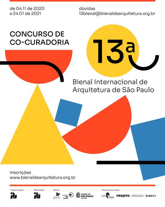 IABsp prorroga o prazo de inscrição do concurso de co-curadoria da 13ª Bienal Internacional de Arquitetura de São Paulo, Cartaz de Divulgação