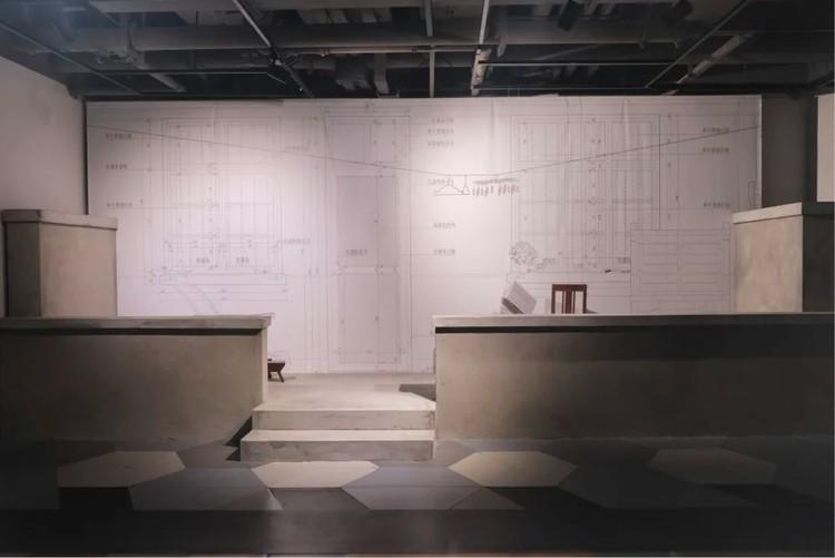 Installation by Fan Jiujiang at Space Discipline exhibition. Image © Han Shuang