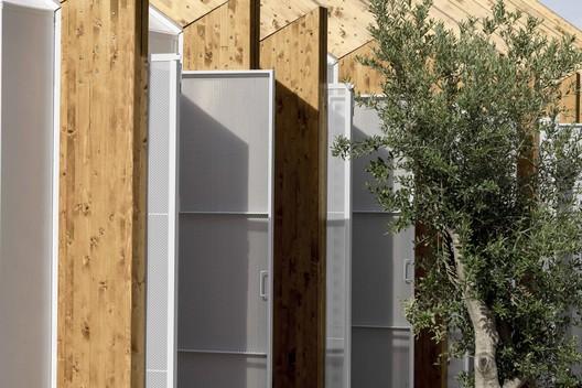 Prototipo de pabellón prefabricado / Ayllón Paradela Deandrés Arquitectos + Xesta-Rasilla Arquitectos. Image © Miguel Fernández-Galiano Rodriguez