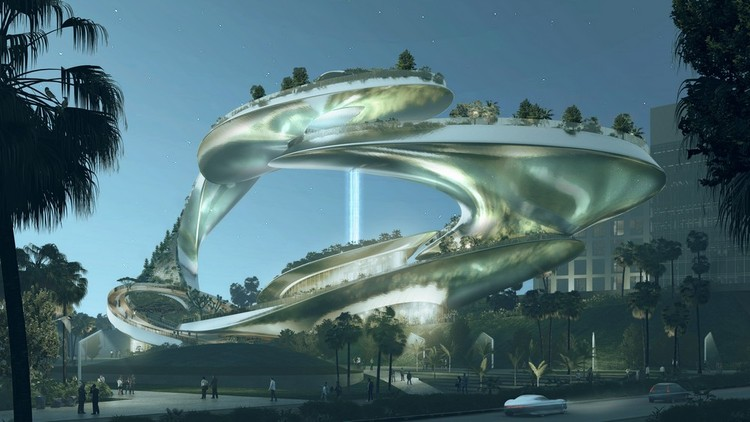 CROX Designs Futuristic Vertical Park for San Jose, Courtesy of CROX