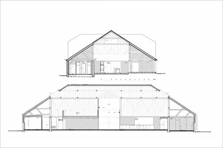 Un granero en la colina / David Nossiter Architects. Image