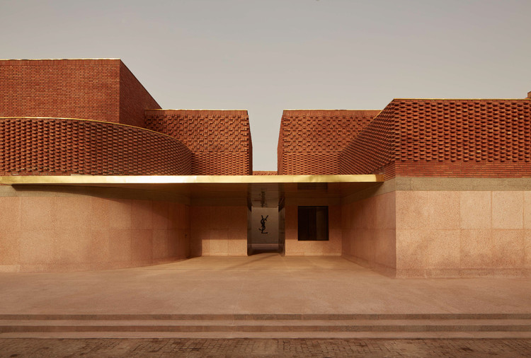 Yves Saint Laurent Museum in Marrakesh, Morocco, inspired by vernacular techniques and materials. © Dan Glasser