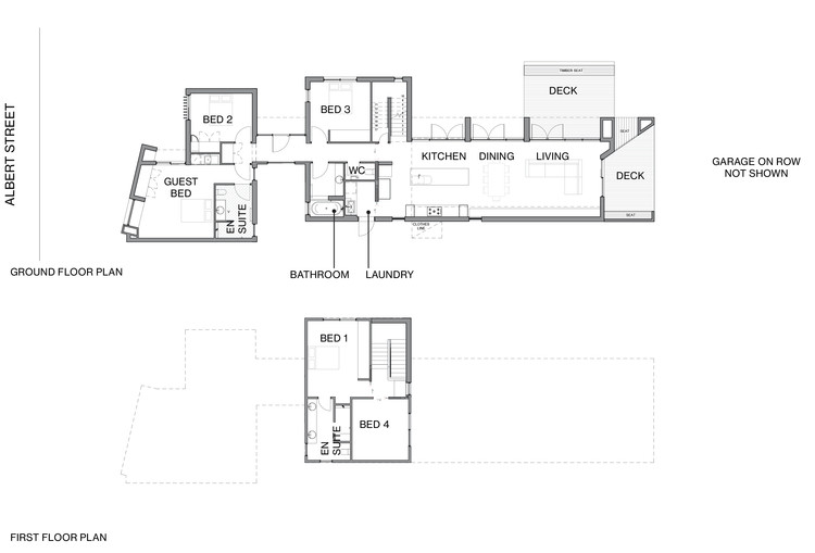 Ground and first floor plan