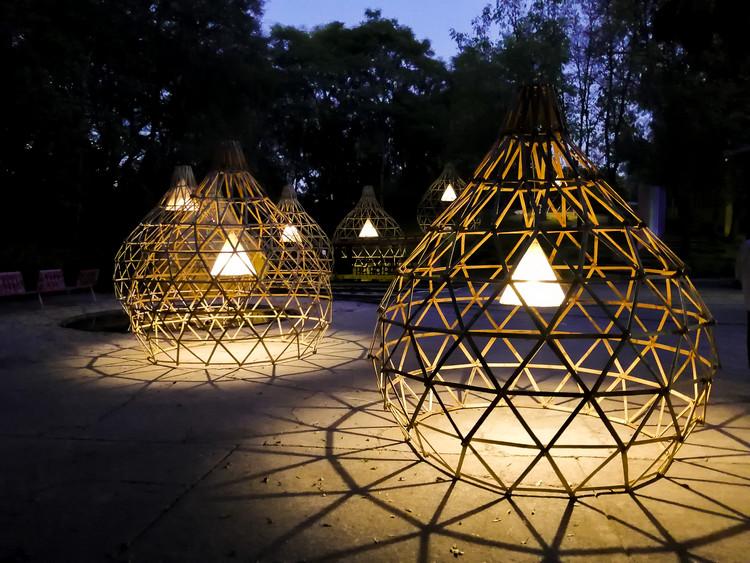 Lucila Aguilar construye pabellón de bambú para Design Week México 2020, © Lucila Aguilar