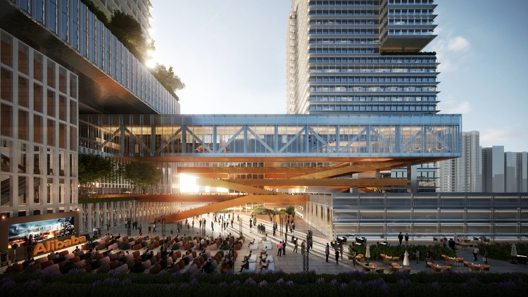 Benoy Wins Competition to Design Alibaba's Central China Headquarters in Wuhan, Courtesy of Benoy