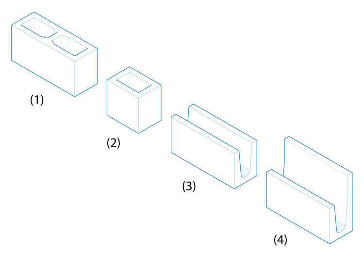 Plusieurs types de blocs. Image © Eduardo Souza (ArchDaily)