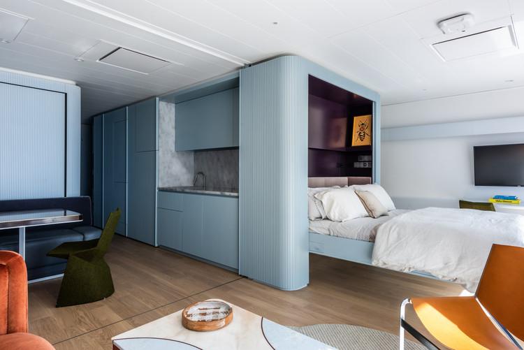 Apartamento en el mar Pied-à-mer / Michael K Chen Architecture, © Alan Tansey
