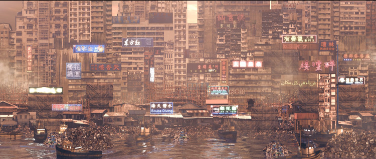 The City in the Sea. Image Courtesy of Liam Young