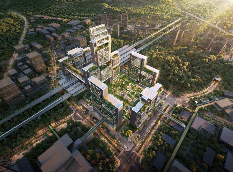 Foster + Partners Wins Competition to Design Guangming Hub, a New Transport Oriented Development in China, © Foster + Partners