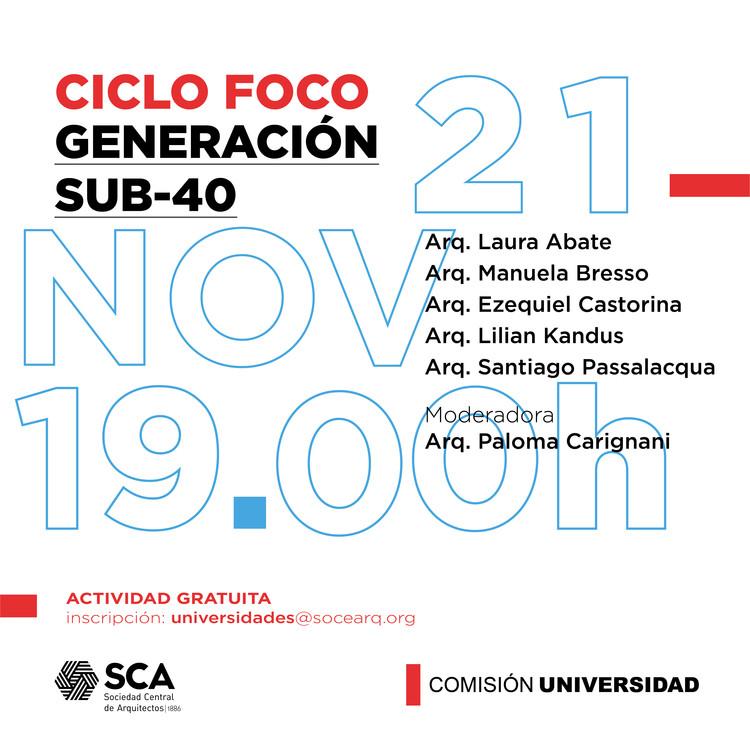 Ciclo de charlas FOCO: Generación Sub-40