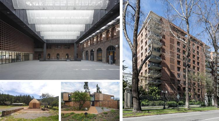 Fachada y patio cubierto del Campus Oriente (PUC) y Edificio Lyon, ganadores de la Mejor Obra de Arquitectura del Ladrillo 2020, Cortesía de Premio Arquitectura del Ladrillo