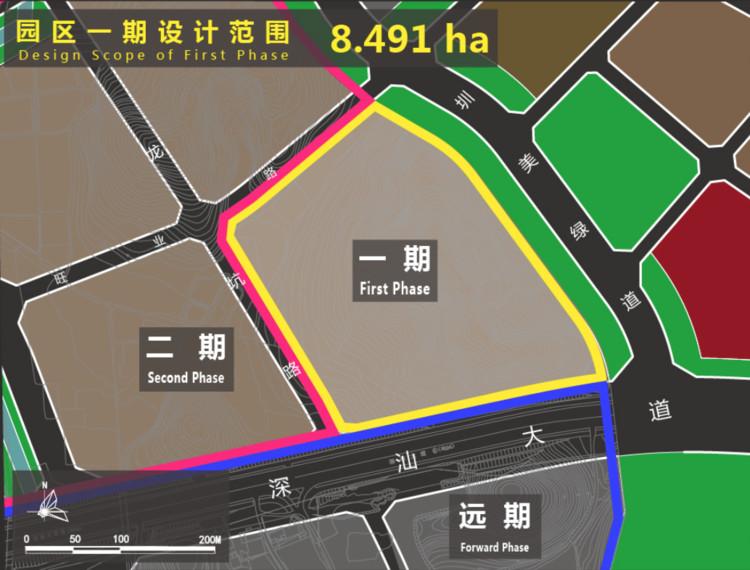 Phase I design scope of the Park