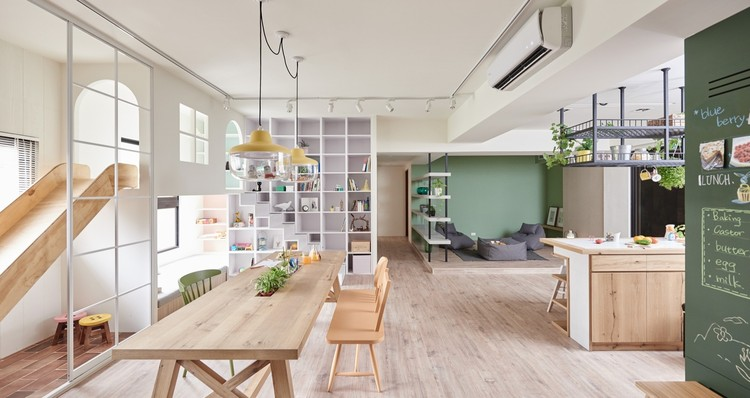 Arquitectura lúdica en casa: Juegos infantiles de interior, The Family Playground / HAO Design. Image © Hey! Cheese