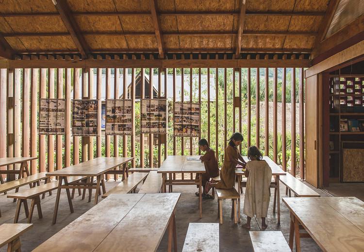 Estrategias bioclimáticas en escuelas de Perú: 7 ejemplos en comunidades nativas, Nueva Escuela en la Comunidad Nativa de Jerusalén de Miñaro / Semillas. Image © Eleazar Cuadros