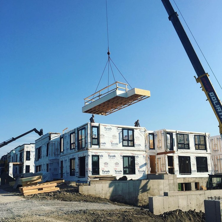 Increase Efficiency, Design Freedom and Sustainability with Light Frame Wood Construction, Modular construction by Maisons Laprise, Quebec, Canada. Image Courtesy of QWEB