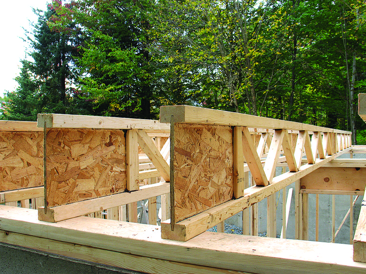 I-Joist by Barrette Structural, Quebec, Canada. Image Courtesy of QWEB