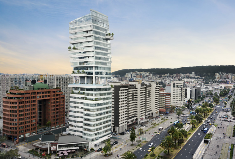 Carlos Zapata Unveils New Mixed-Use Residential Tower in Quito, Courtesy of Carlos Zapata