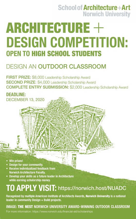 Norwich University holds outdoor classroom design competition for high school students