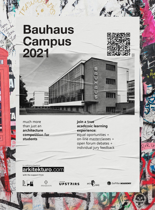 Bauhaus Campus 2021. Architecture Competition for Students, Bauhaus Campus 2021 Architecture Competition for Students Poster