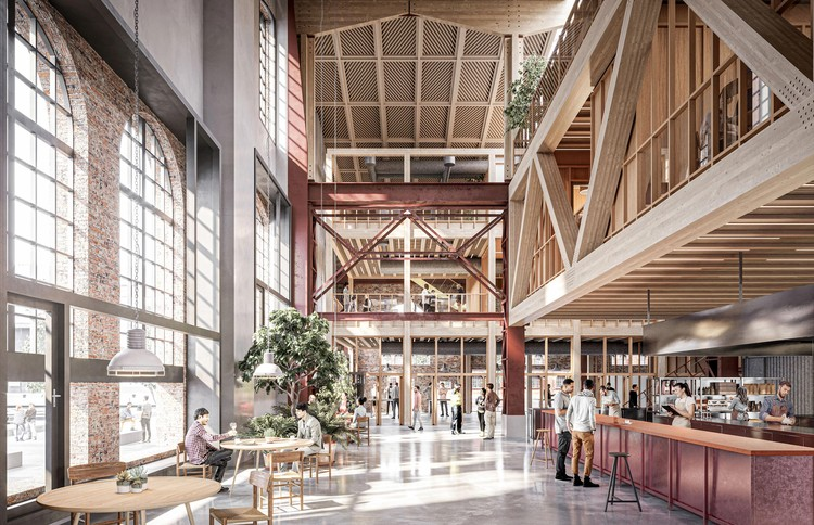 Kjellander Sjoberg to Transform Former Shipbuilding Industry into Vibrant Creative Hub in Malmö, Sweden, Courtesy of Kjellander Sjoberg