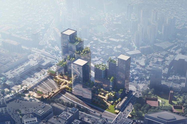 Henning Larsen Wins Competition for a Mixed-use Development in South Korea, Courtesy of Proloog